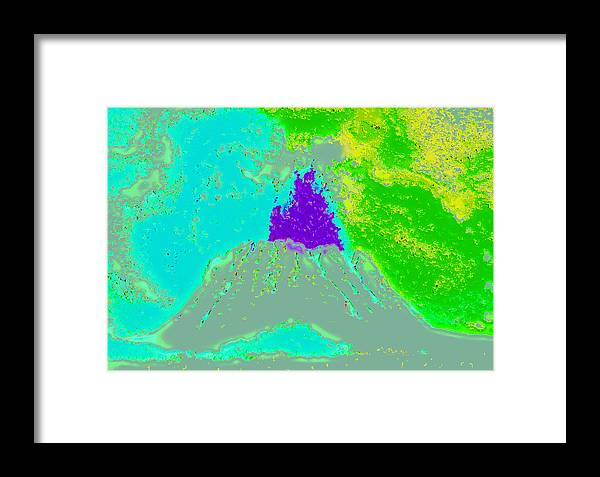 Framed Print featuring the digital art Volcano Dd4 by Modified Image