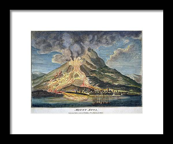 1783 Framed Print featuring the photograph Volcano: Mt. Etna by Granger