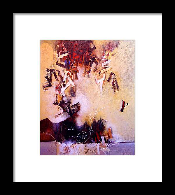 Text Framed Print featuring the painting Volcano Poet by Dale Witherow
