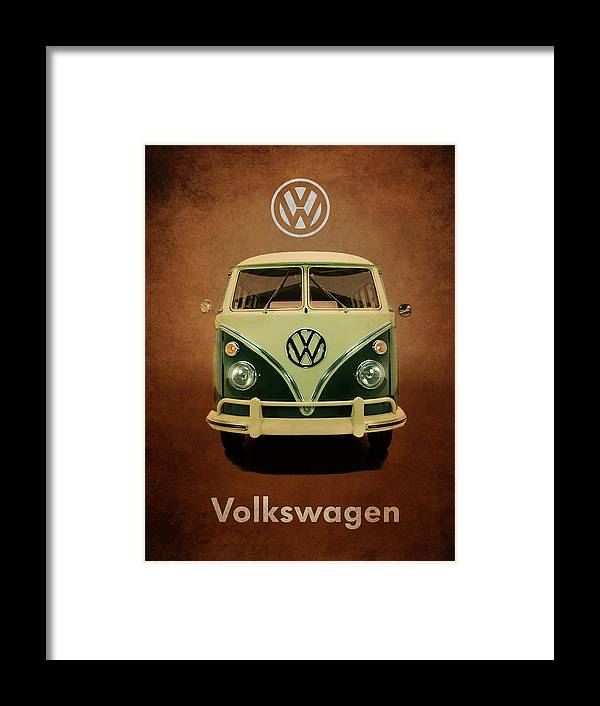 Volkswagen Framed Print featuring the photograph Volkswagen T1 1963 by Mark Rogan