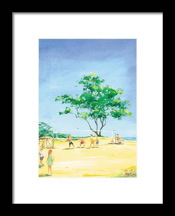 Volleyball Framed Print featuring the painting Volleyball Anyone by Ray Cole