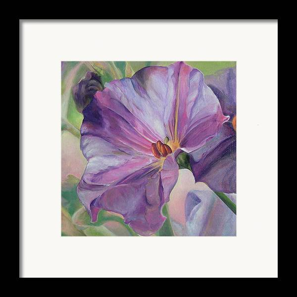 Floral Painting Framed Print featuring the painting Volubilis by Muriel Dolemieux