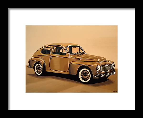 Volvo Pv544 Framed Print featuring the painting Volvo Pv 544 1958 Painting by Paul Meijering