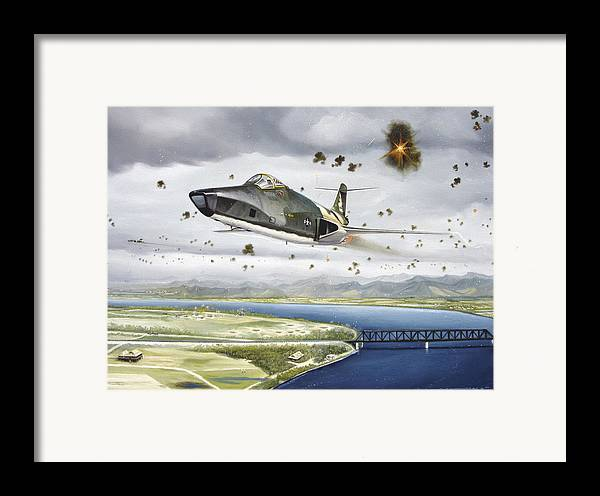 Military Framed Print featuring the painting Voodoo Vs The Dragon by Marc Stewart