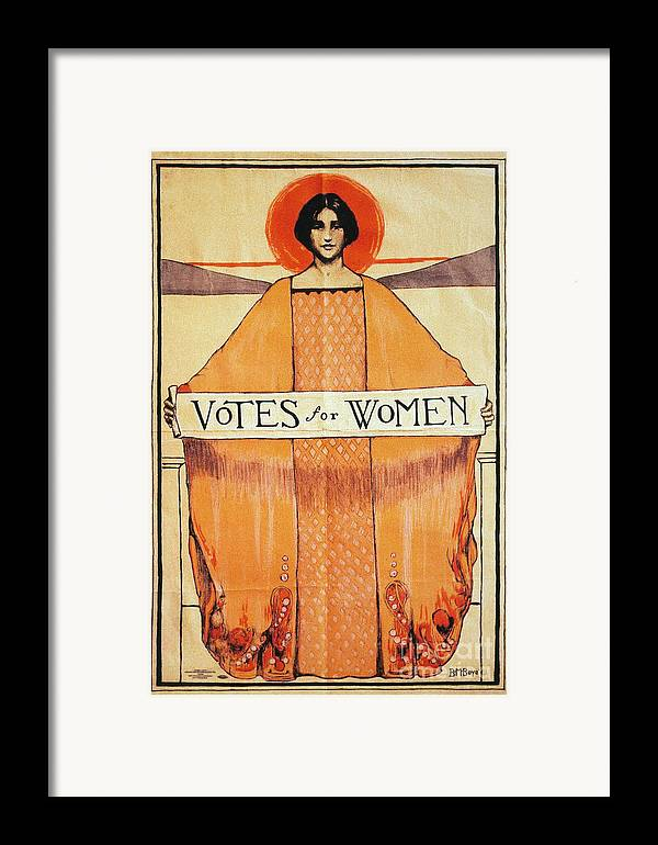 1911 Framed Print featuring the photograph Votes For Women, 1911 by Granger