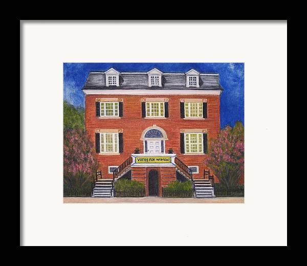 House Framed Print featuring the painting Votes For Women by Patricia Ortman