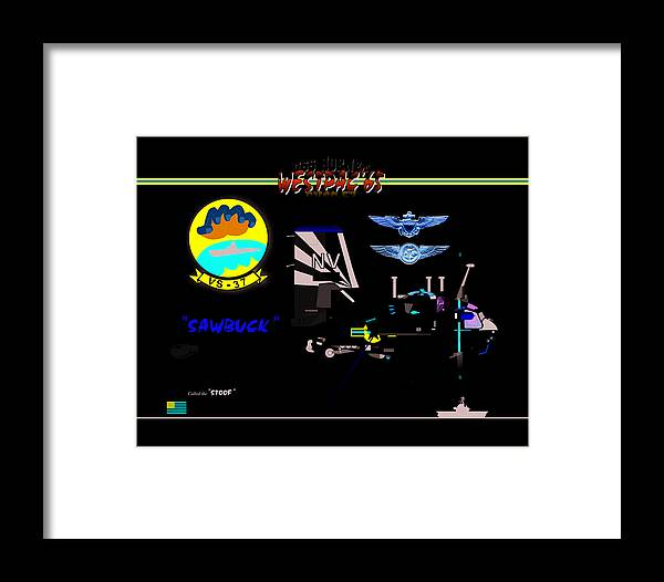 Framed Print featuring the digital art Vs-37 Stoof by Mike Ray