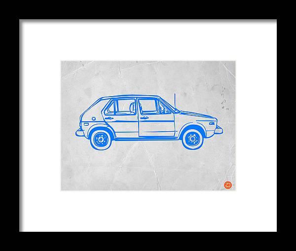 Vw Golf Framed Print by Naxart Studio