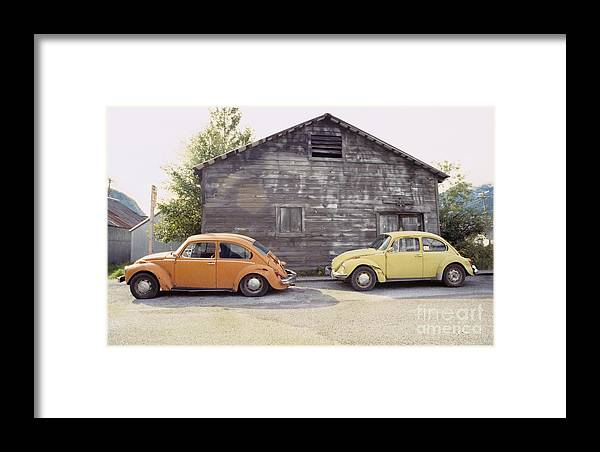 Vw Framed Print featuring the photograph Vw's In Skagway Alaska by Bruce Stanfield