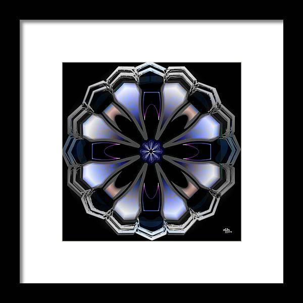 Geometric Abstract Framed Print featuring the digital art w by Warren Furman