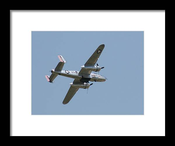 Air Framed Print featuring the photograph Wafb 09 B25 Mitchell Bomber 2 by David Dunham