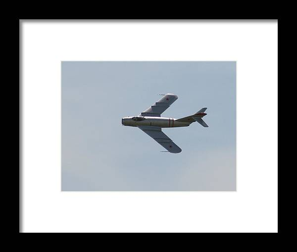 Airplane Framed Print featuring the photograph Wafb 09 Mig 17 Russian 1 by David Dunham