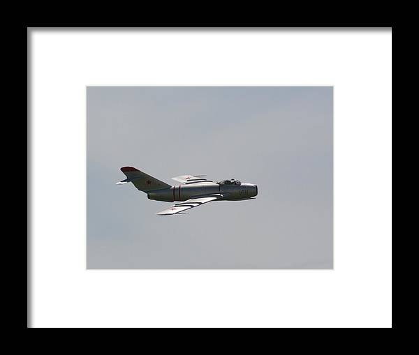 Airplane Framed Print featuring the photograph Wafb 09 Mig 17 Russian 3 by David Dunham