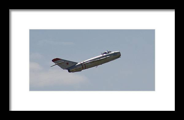 Airplane Framed Print featuring the photograph Wafb 09 Mig 17 Russian 4 by David Dunham