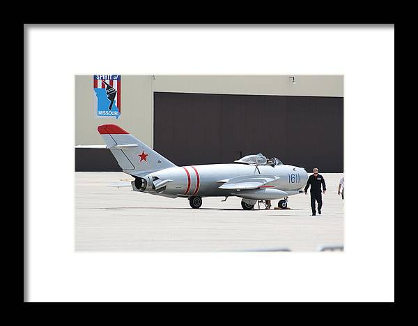 Airplane Framed Print featuring the photograph Wafb 09 Mig 17 Russian 6 by David Dunham