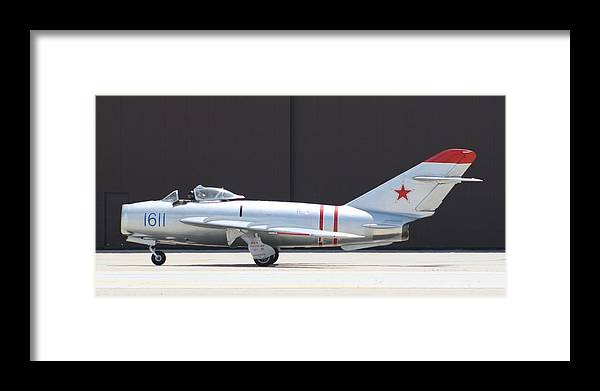 Airplane Framed Print featuring the photograph Wafb 09 Mig 17 Russian by David Dunham