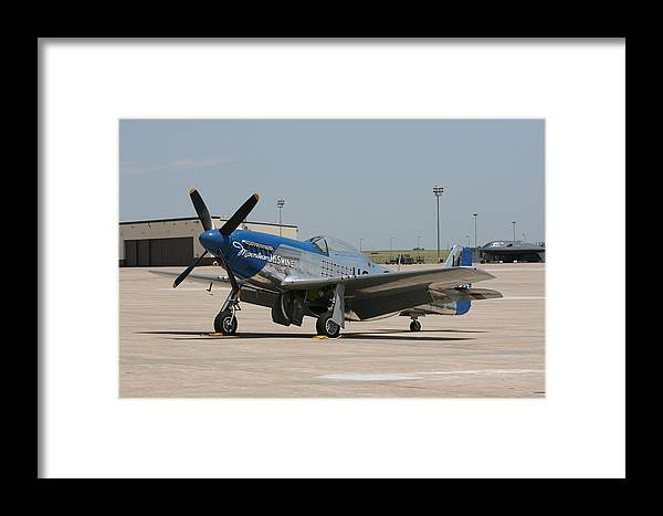 Airplane Framed Print featuring the photograph Wafb 09 P-51 Mustang 3 - Darling Of The Sky by David Dunham