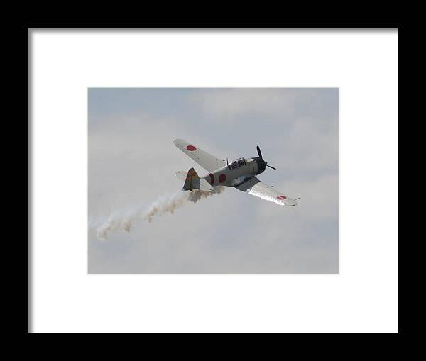 Airplane Framed Print featuring the photograph Wafb 09 T-6 Tora 101 Zero 6 by David Dunham