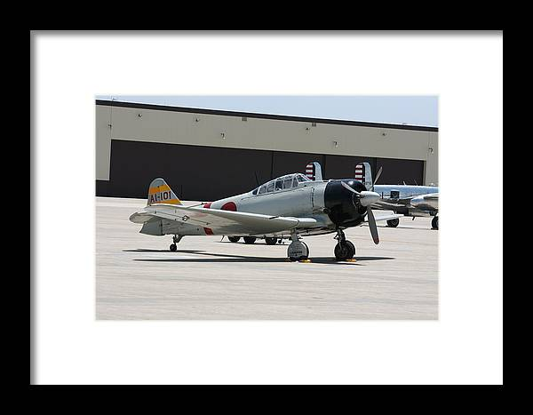 Airplane Framed Print featuring the photograph Wafb 09 T-6 Tora 101 Zero 8 by David Dunham