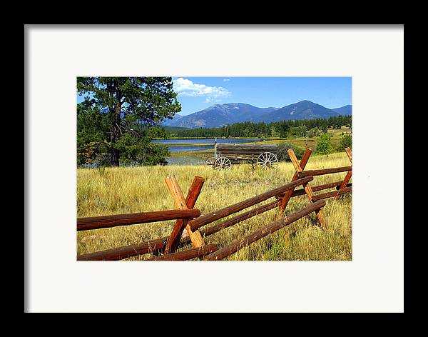 Landscape Framed Print featuring the photograph Wagon West by Marty Koch