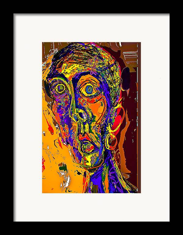 Portrait Framed Print featuring the painting Waheebah by Noredin Morgan