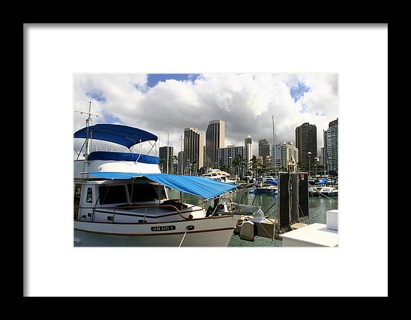 Hawai Framed Print featuring the photograph Waikiki Port by Andrei Fried