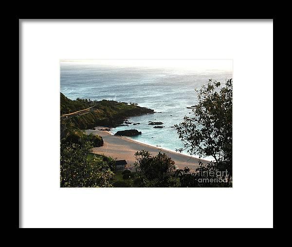 The Beach Framed Print featuring the photograph Waimea Bay by Chandelle Hazen