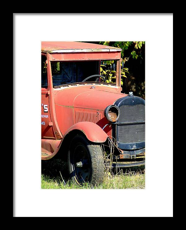 Model A Framed Print featuring the photograph Waiting by Everett Bowers