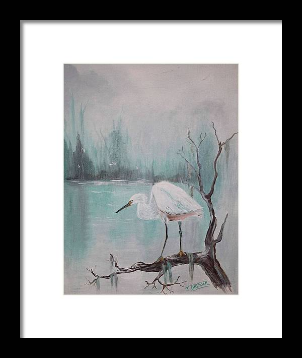 Acrylic Painting Framed Print featuring the painting Waiting For A Meal by Bill Hubbard
