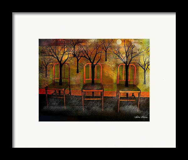 Moon Framed Print featuring the digital art Waiting For A Miracle by Sabine Stetson