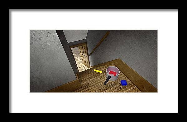 Wooden Toy Blocks Framed Print featuring the photograph Waiting For Dad by Peter J Sucy