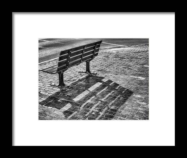 Bench Framed Print featuring the photograph Waiting For Proposal by Richard Bean