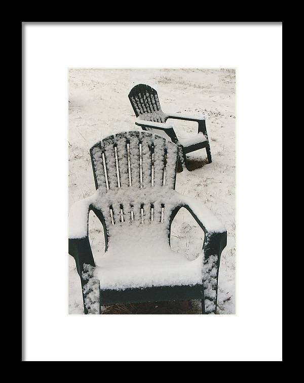 Chairs Framed Print featuring the photograph Waiting For Spring by Diana Davenport