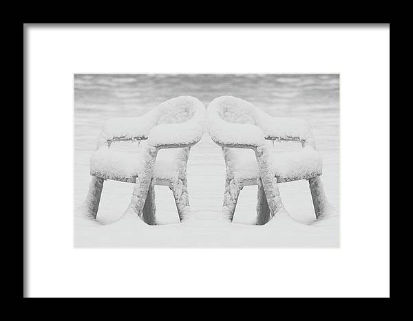Chairs Framed Print featuring the photograph Waiting For Spring by Rianna Stackhouse