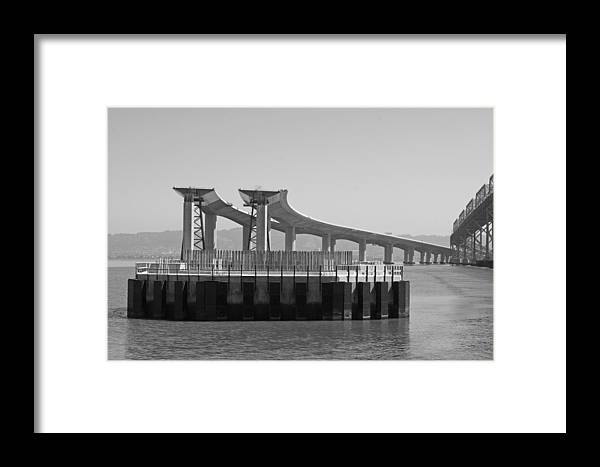 Water Framed Print featuring the photograph Waiting For The Bridge by Jerry Patchin