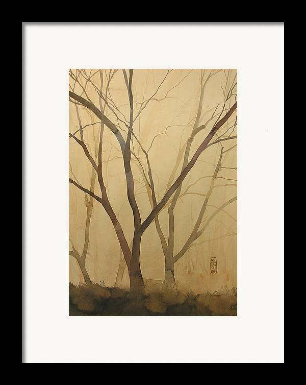 Tree Framed Print featuring the painting Waiting For The Spring by Alessandro Andreuccetti