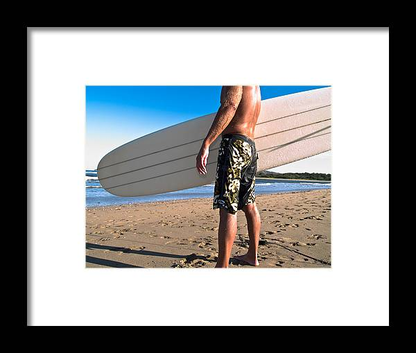 Surf Framed Print featuring the photograph Waiting For The Surf by Jim DeLillo