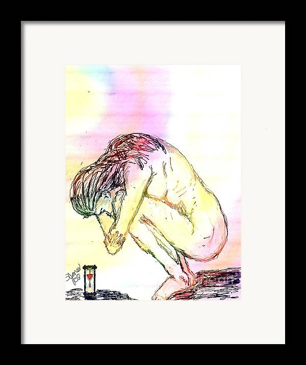 Lady Framed Print featuring the digital art Waiting For The Wounds To Heal by Shelley Jones