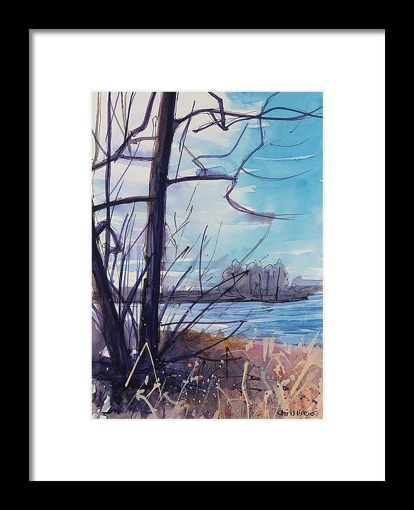 Paintings Framed Print featuring the painting Waiting For Winter by Chris Breier