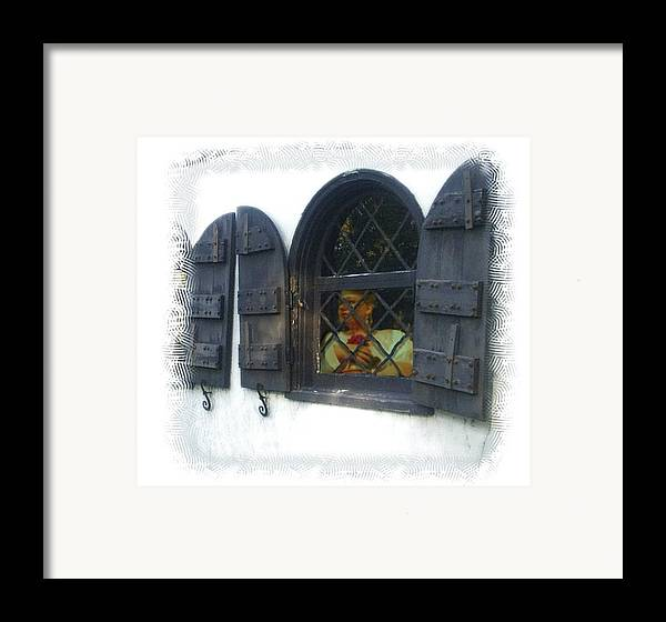 Window Framed Print featuring the photograph Waiting For You by Scarlett Royal