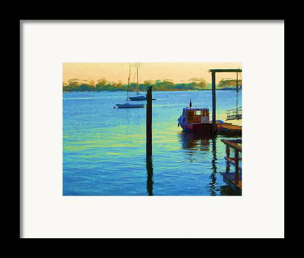 Framed Print featuring the painting Waiting For You To Escape City Island Ny by Jonathan Galente
