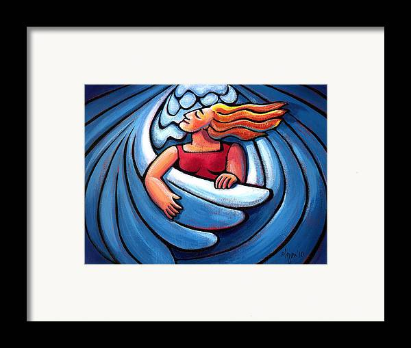 Wings Framed Print featuring the painting Waiting In The Wings by Angela Treat Lyon