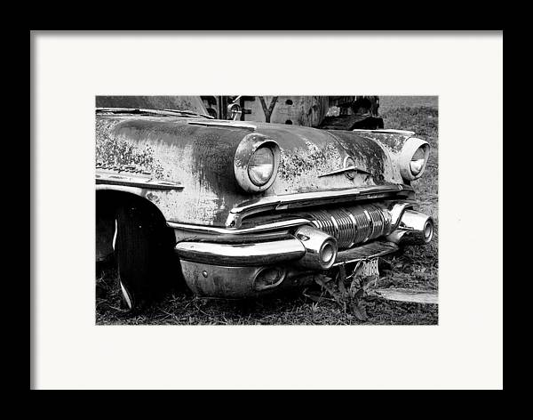 Vintage Cars Framed Print featuring the photograph Waiting by Jennifer Owen