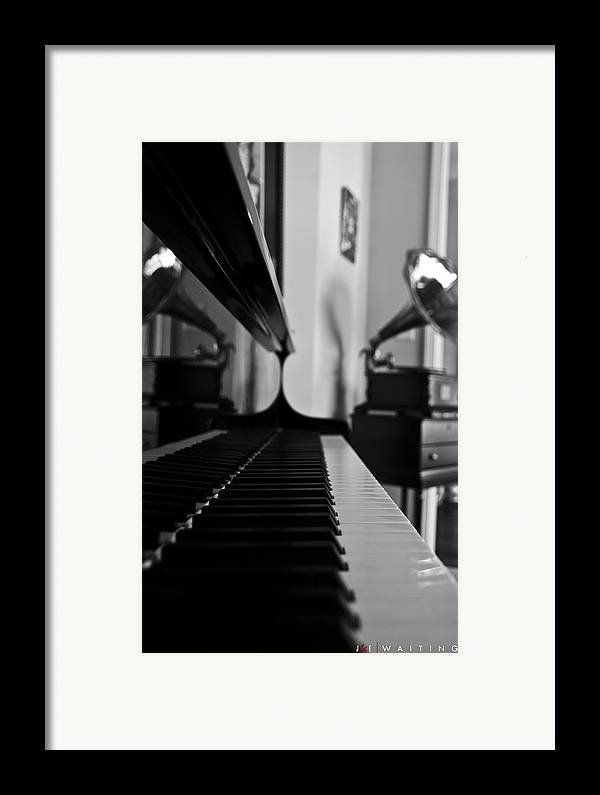 Piano Framed Print featuring the photograph Waiting by Jonathan Ellis Keys