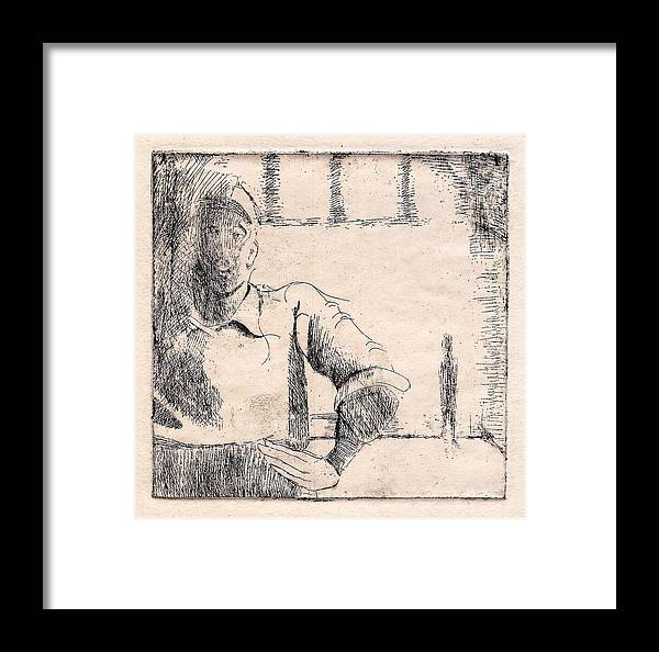 Framed Print featuring the photograph Waiting by Makarand Joshi