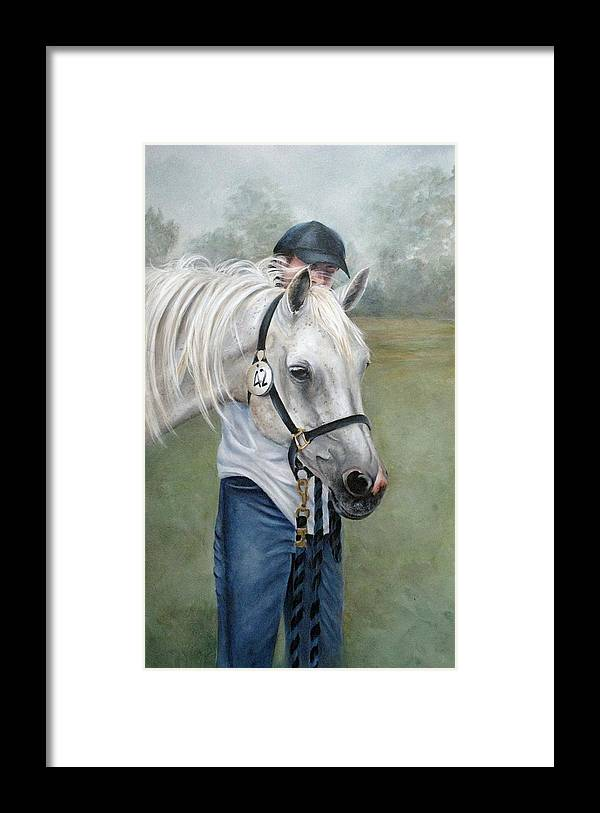 Horse Framed Print featuring the painting Waiting by Mary McCullah