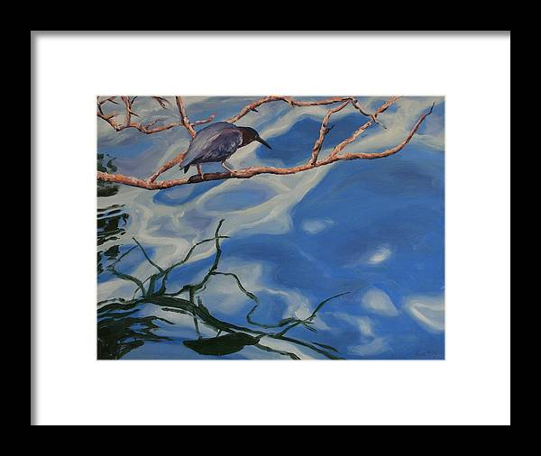 Oil Painting Framed Print featuring the painting Waiting by Michael Vires
