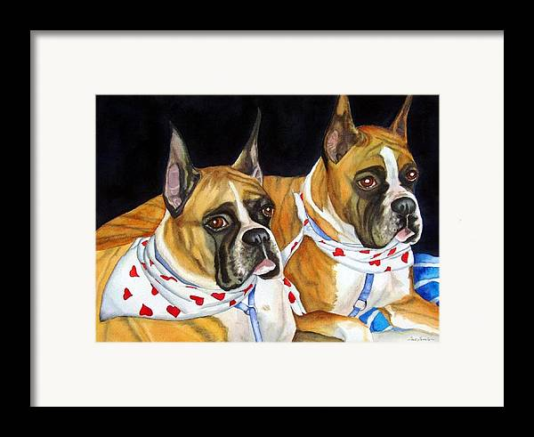 Animals Framed Print featuring the painting Waiting To Show by Gail Zavala