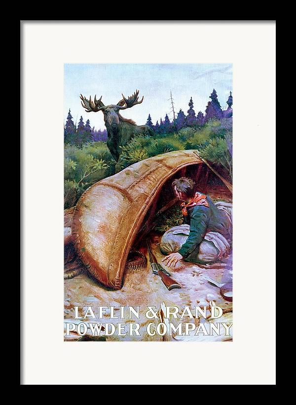 Moose Framed Print featuring the painting Wake Up Call by Phillip R Goodwin