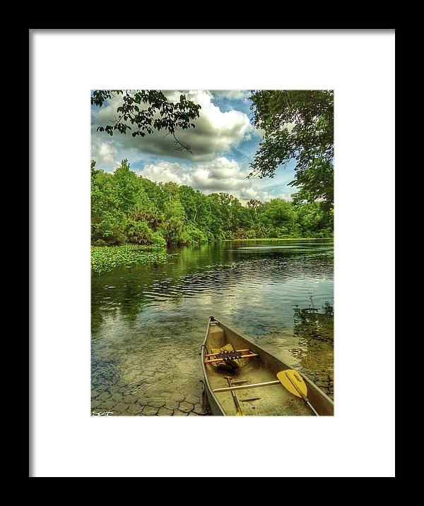 Florida Framed Print featuring the digital art Wakiva Springs by Scott Waters